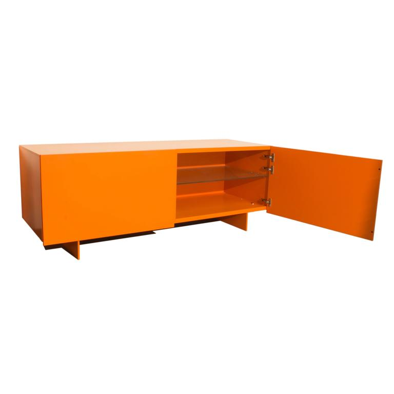 orange uni two drawer cabinet sideboard by piero lisoni. Black Bedroom Furniture Sets. Home Design Ideas