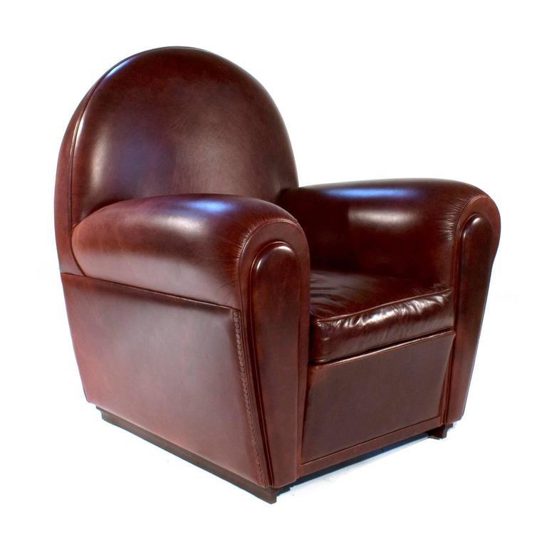 Vanity Fair Leather Lounge Armchair By Renzo Frau For