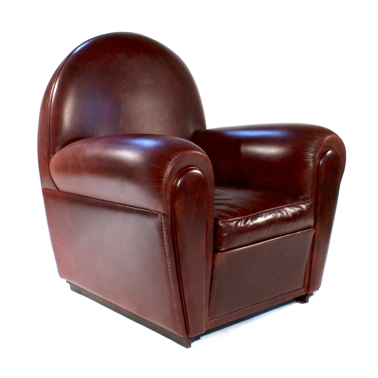 Vanity Fair Leather Lounge Armchair by Renzo Frau for Poltrona Frau ...
