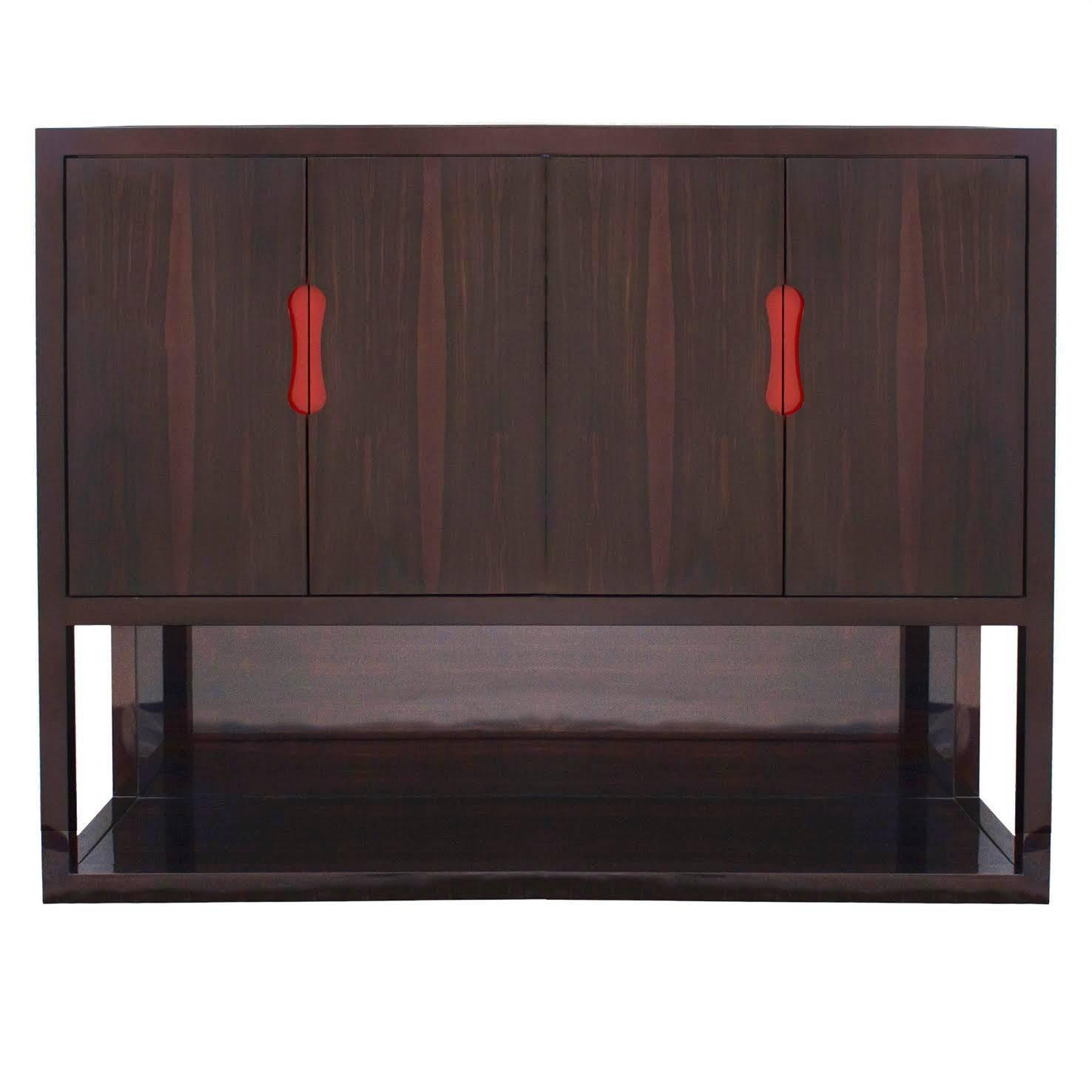 Macassar Ebony Luth Cabinet By Christian Liaigre France