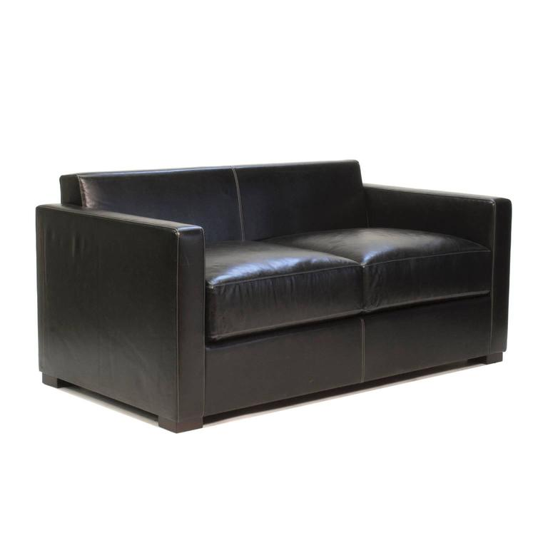 linea a two seat sofa by peter marino for poltrona frau italy for sale at 1stdibs. Black Bedroom Furniture Sets. Home Design Ideas