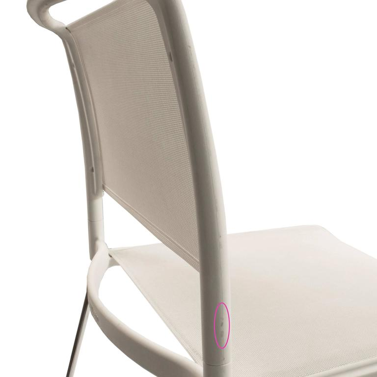 White Aline Counter Stool With Footrest By Andreas Storiko