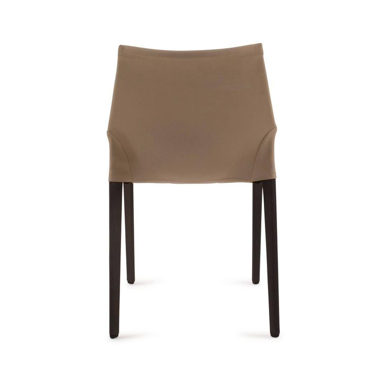 Wood and Leather Outline Dining Chair by Arik Levy for  : 04mdkt1377moltenilevyoutlinechairl from www.1stdibs.com size 768 x 768 jpeg 11kB