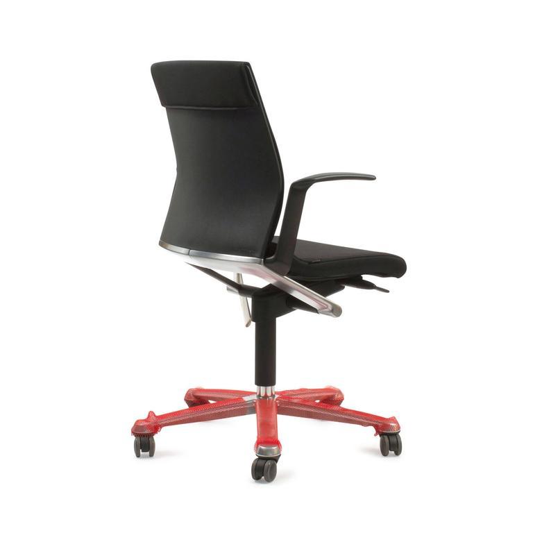 black modus 263/7 adjustable swivel office task chair for wilkhahn