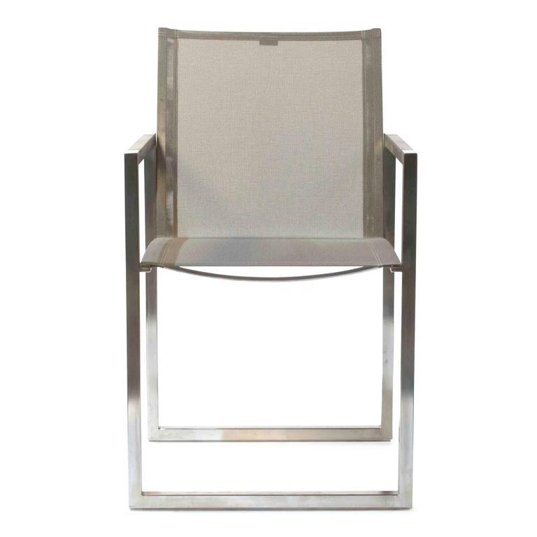Grey NNX Ninix 55 Outdoor Dining Armchair By Royal Botania