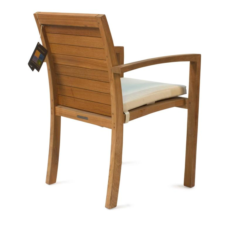 Teakwood Ixit 55 Outdoor Dining Armchair With Cushion By