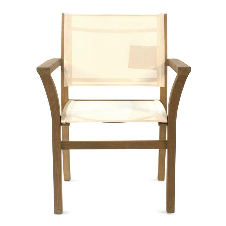 White Mixt 55 Teak Outdoor Dining Armchair By Royal