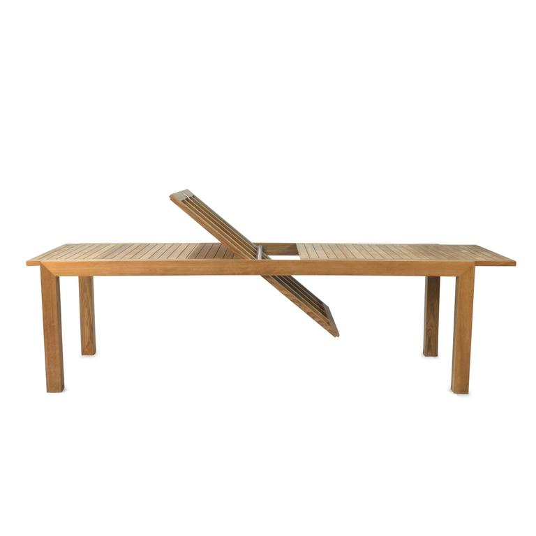Teak ixit 360 outdoor extending dining table by royal for Royal dining table