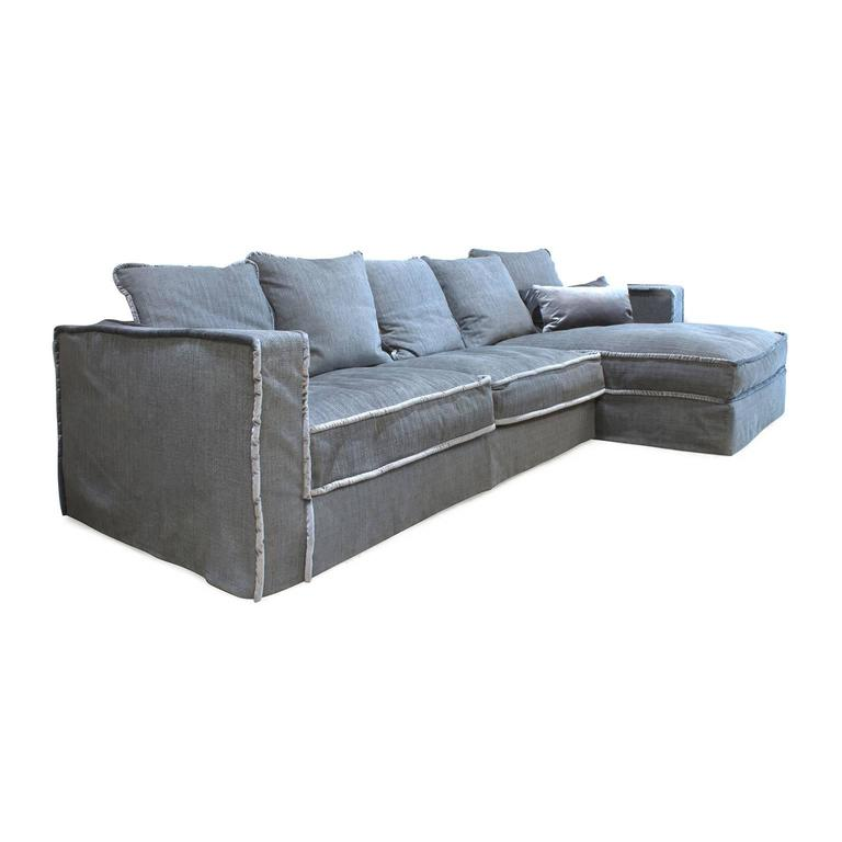pillopipe sofa with chaise by paola navone for casamilano italy for sale at 1stdibs. Black Bedroom Furniture Sets. Home Design Ideas