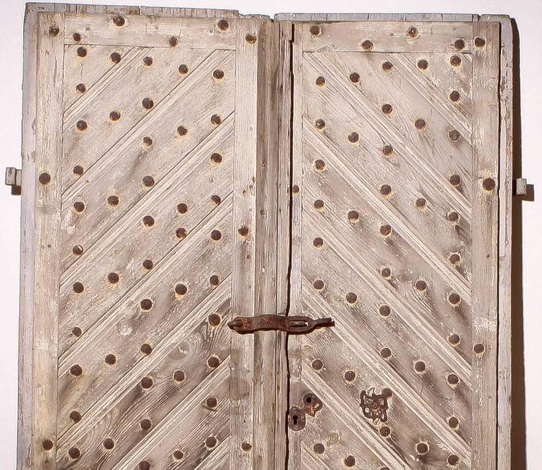 18th Century, Set of Two French Castle Doors In Fair Condition For Sale In Silvolde, Gelderland
