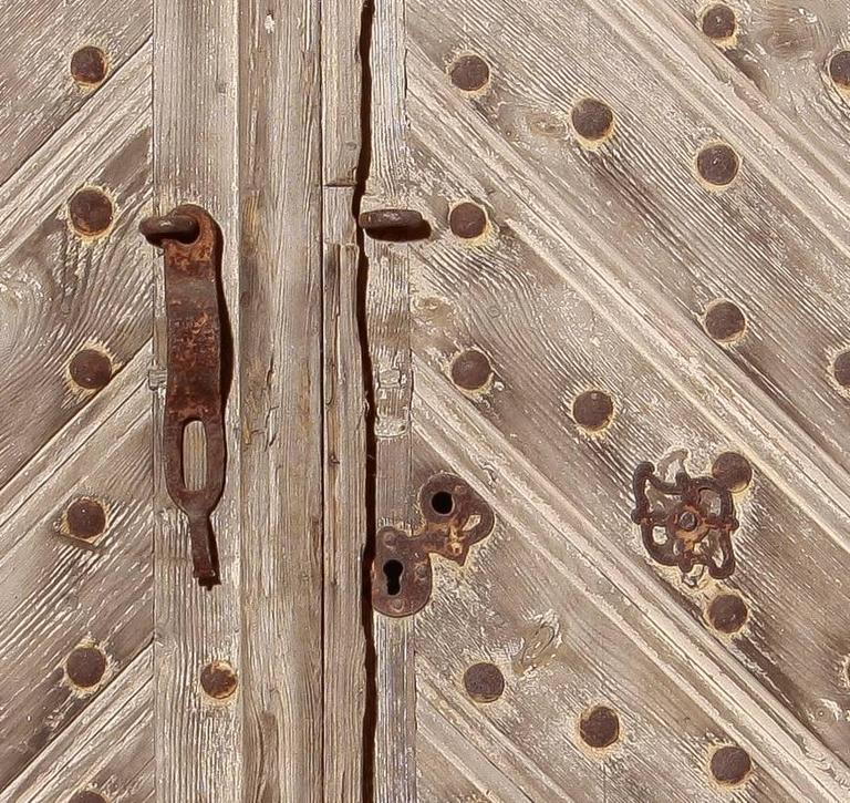 Wood 18th Century, Set of Two French Castle Doors For Sale
