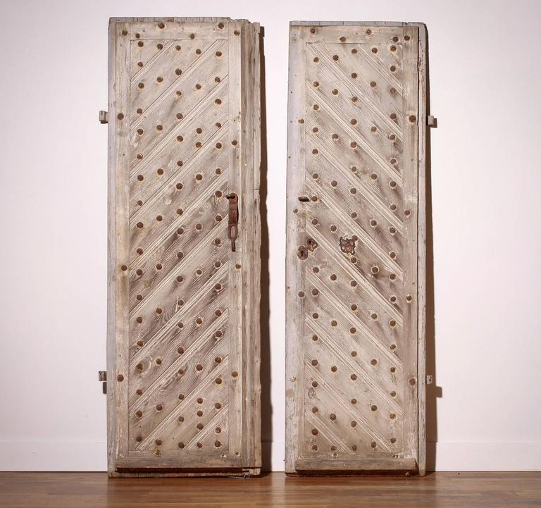 18th Century, Set of Two French Castle Doors For Sale 6