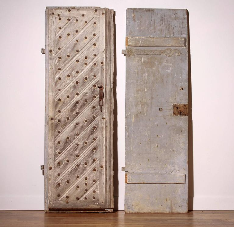 18th Century, Set of Two French Castle Doors For Sale 5