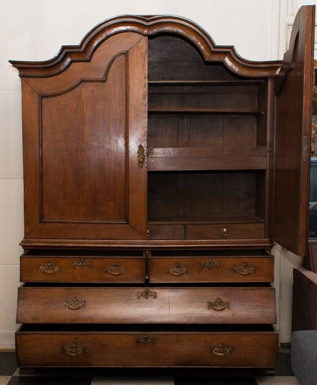 Dutch 1820s, Antique Oak Cabinet