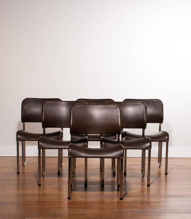 1960s Six Beautiful Dining Chairs By Jan Ekselius For Sale