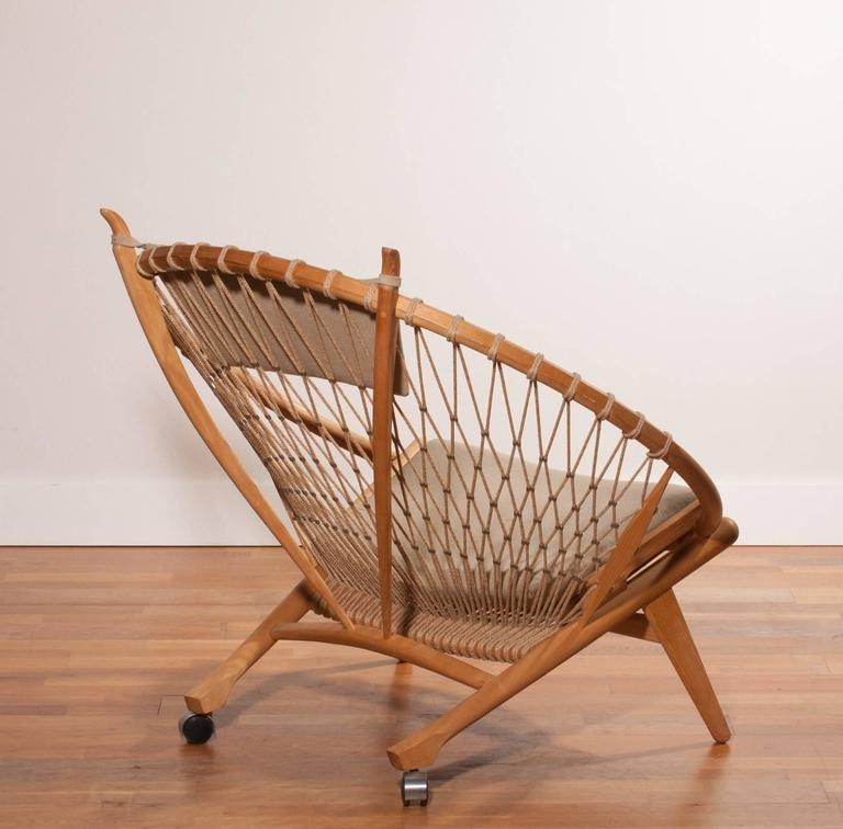 Steel 1980s ,'Circle' Chair by Hans J. Wegner for PP Möbler