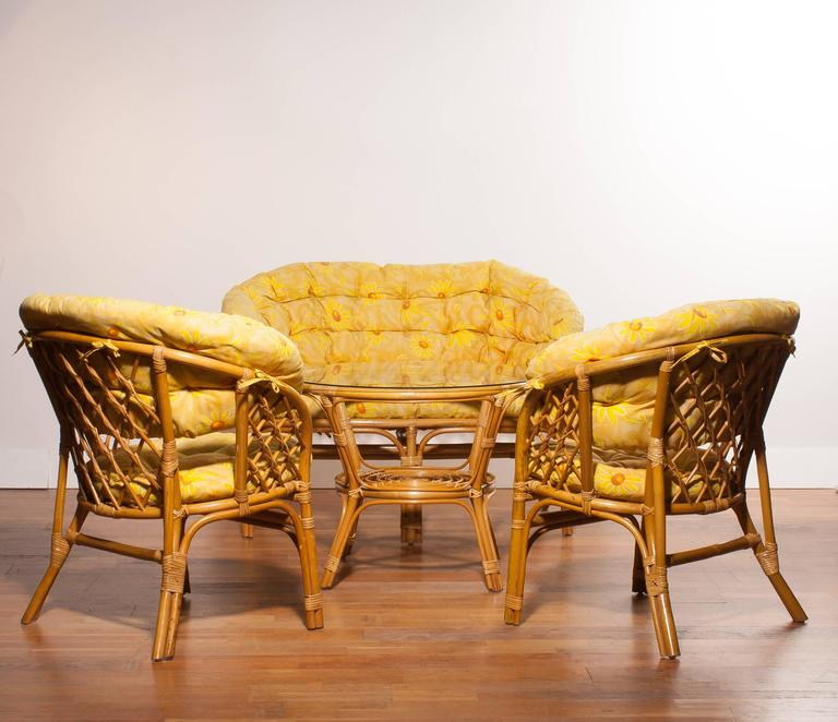 1970s a beautiful rattan garden set for sale at 1stdibs - Rattan living room furniture for sale ...