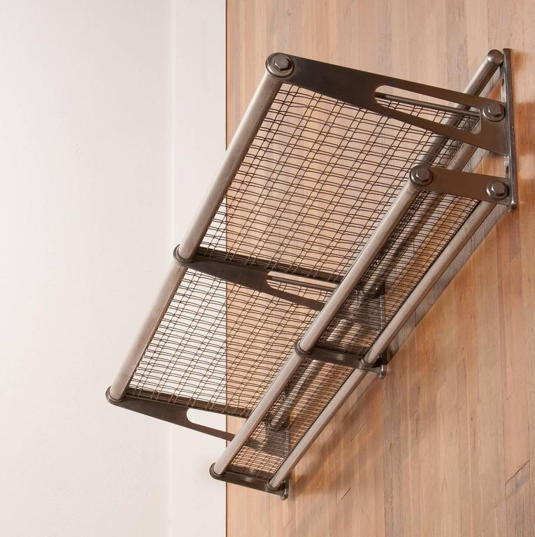 1950s A Wall Mounted Luggage Rack At 1stdibs