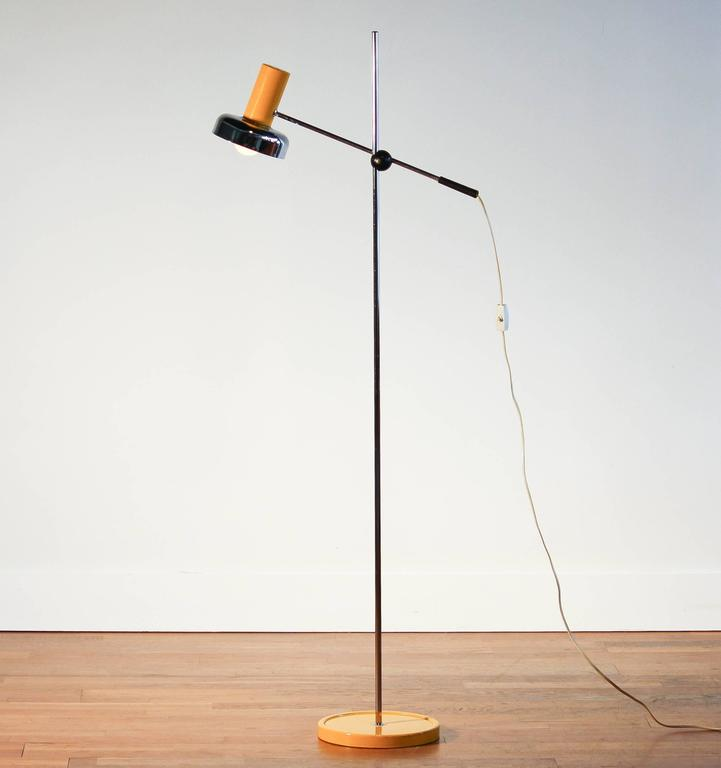1970s beautiful yellow floor lamp by gura leuchten for. Black Bedroom Furniture Sets. Home Design Ideas