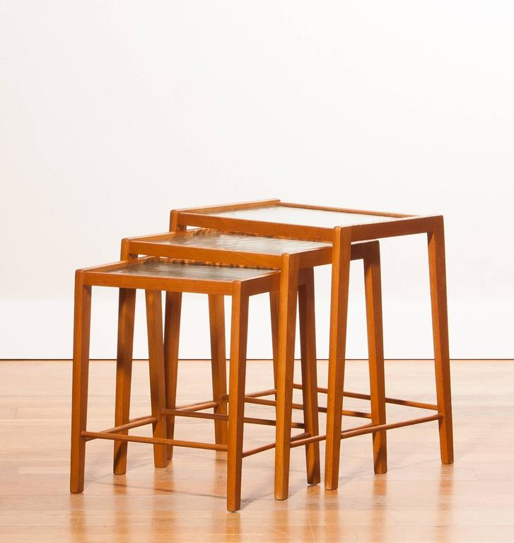 1960s a set of three swedish beech nesting tables for sale at 1stdibs mid 20th century 1960s a set of three swedish beech nesting tables for sale watchthetrailerfo