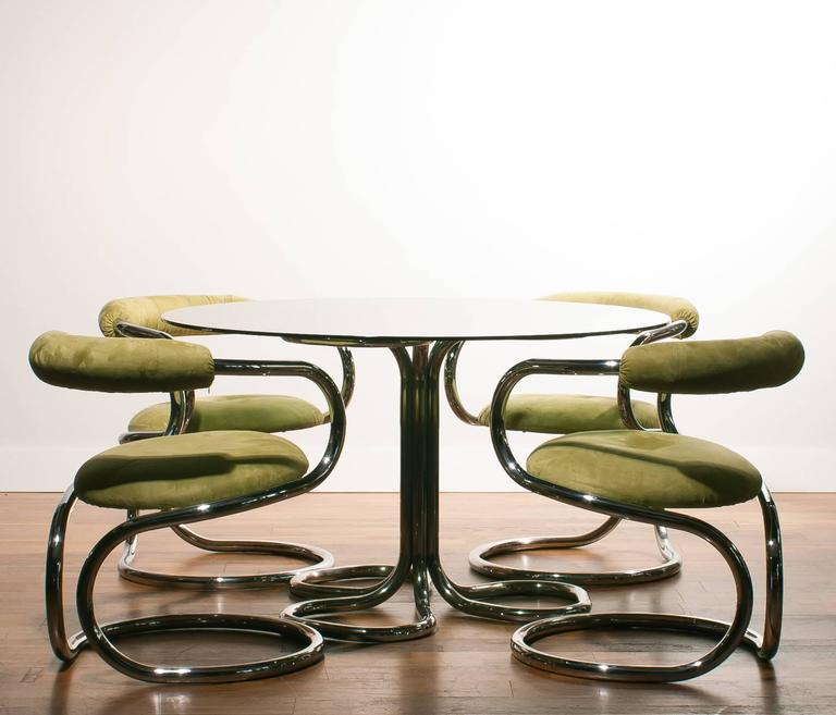 1970s tecnosalotto italy dining set for sale at 1stdibs for 1970 dining room set
