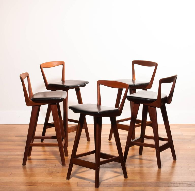 1960s Set Of Five Barstools By Henry Rosengren Hansen For