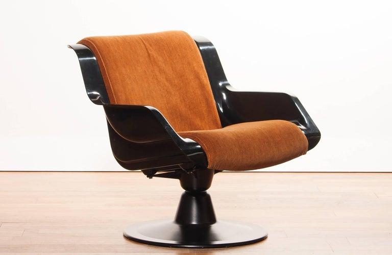 Fabric 1960s, Yrjö Kukkapuro Set Chairs Model 3814-1KF