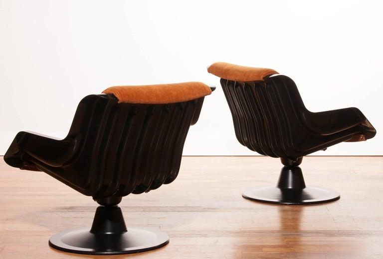 1960s, Yrjö Kukkapuro Set Chairs Model 3814-1KF In Excellent Condition In Silvolde, Gelderland