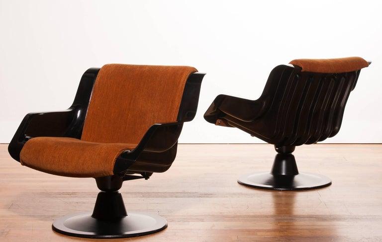 Finnish 1960s, Yrjö Kukkapuro Set Chairs Model 3814-1KF