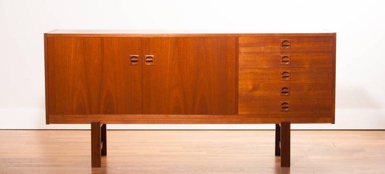 Mid-20th Century 1950s Teak Sideboard by Erik Wørts For Sale