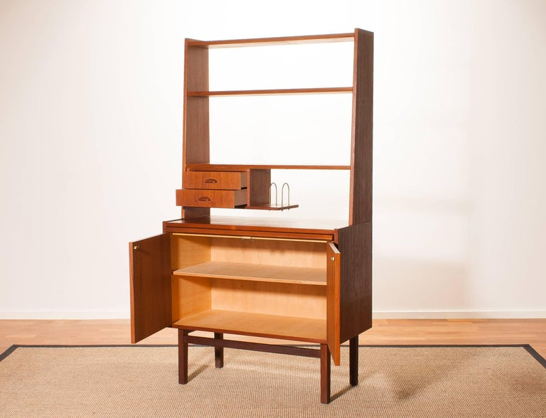 1950s Teak Secretaire Cabinet By Hovmantorp For Sale At
