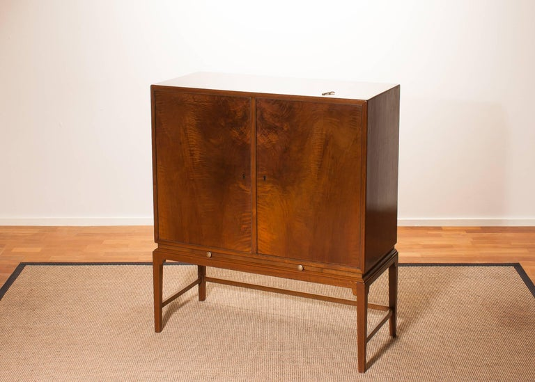 1950s, Burl Wood Cabinet by Boet Sweden 8