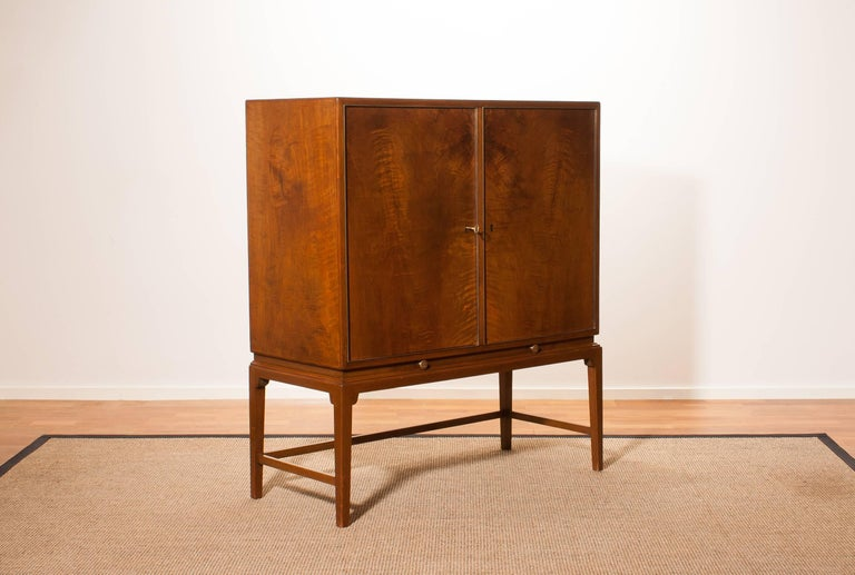 1950s, Burl Wood Cabinet by Boet Sweden 2