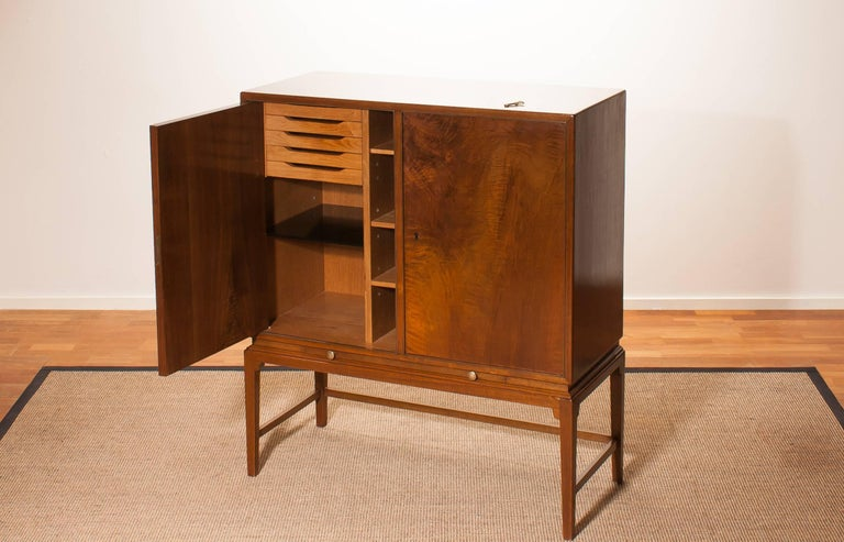 1950s, Burl Wood Cabinet by Boet Sweden 7