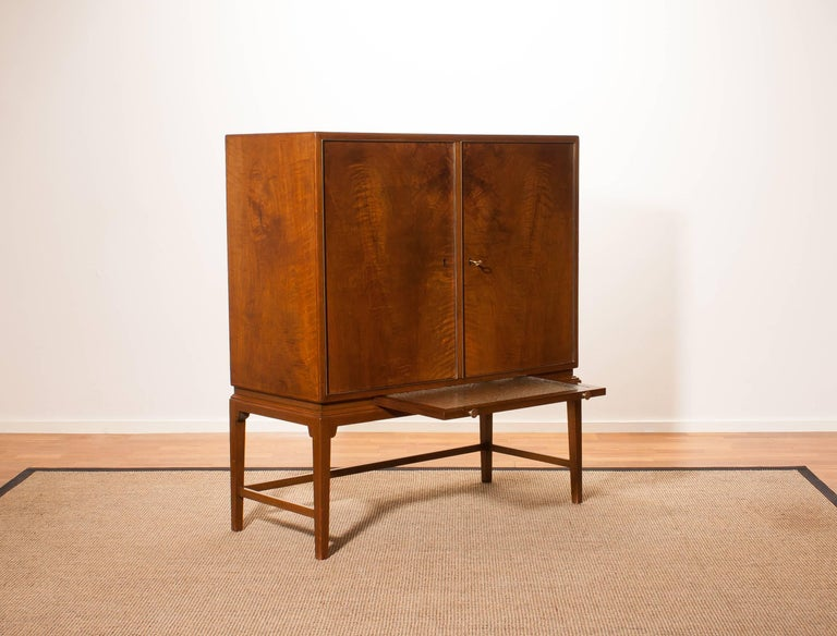 1950s, Burl Wood Cabinet by Boet Sweden 3