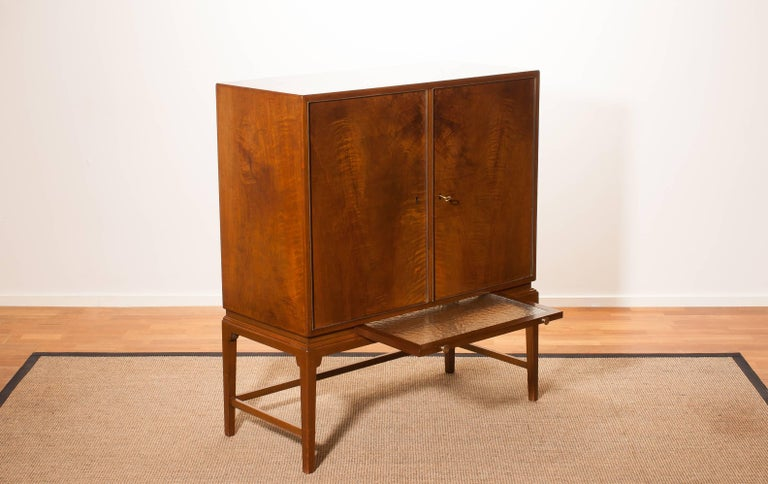 1950s, Burl Wood Cabinet by Boet Sweden 4