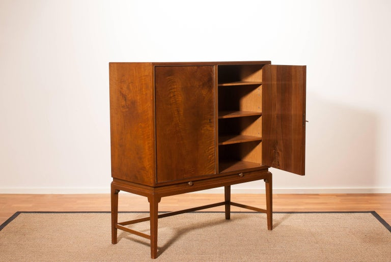 1950s, Burl Wood Cabinet by Boet Sweden 5