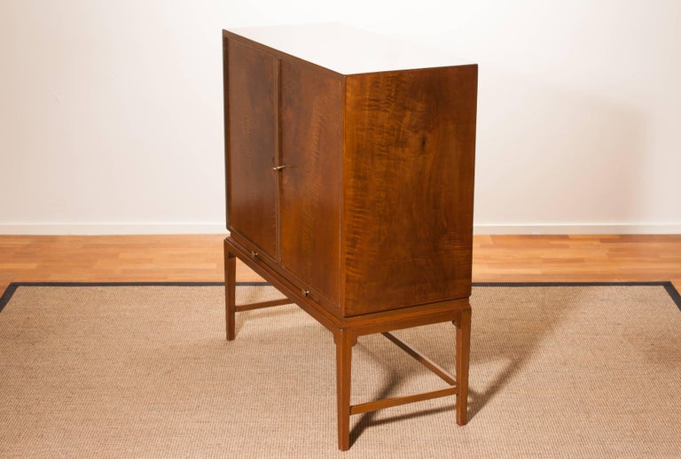 1950s, Burl Wood Cabinet by Boet Sweden 9