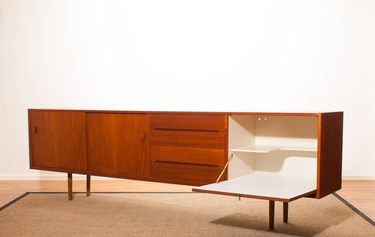 Beautiful teak sideboard 'Grand' designed by Nils Johnson for Troeds Bjärum Sweden.