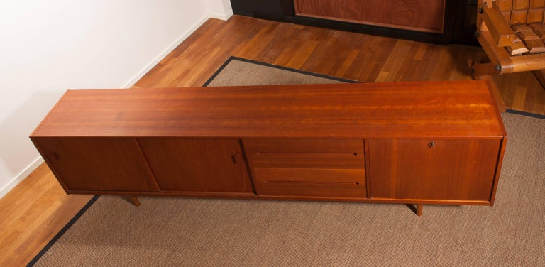 1960s, Teak Sideboard 'Grand' by Nils Johnson for Troeds Sweden For Sale 4
