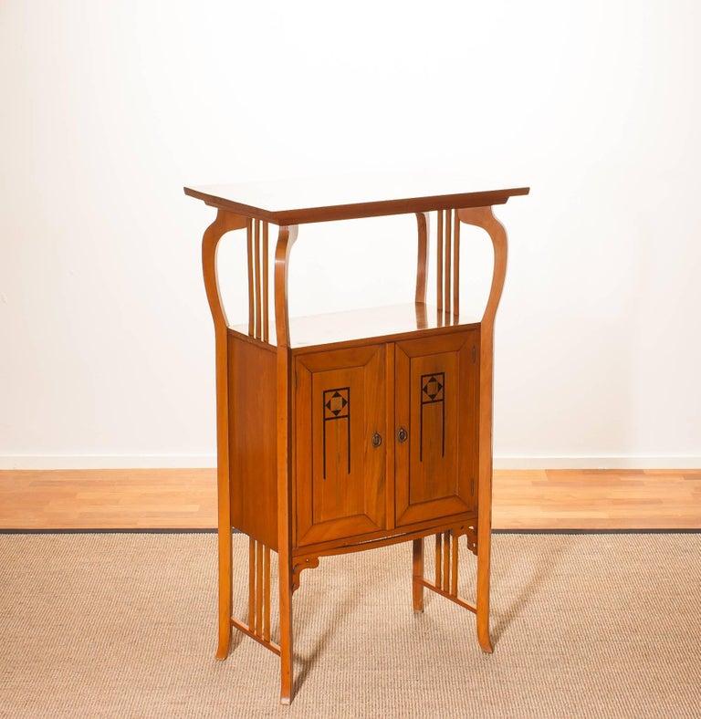 1920s, Elm Art Nouveau Cabinet For Sale 1