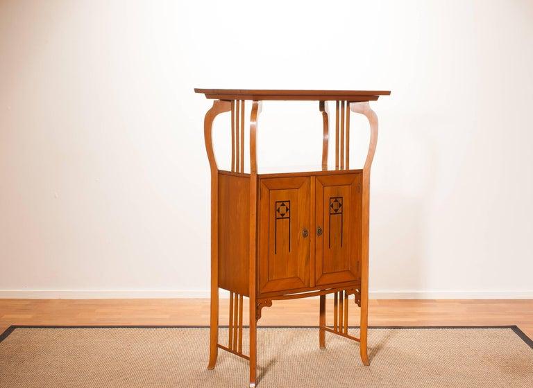 Early 20th Century 1920s, Elm Art Nouveau Cabinet For Sale