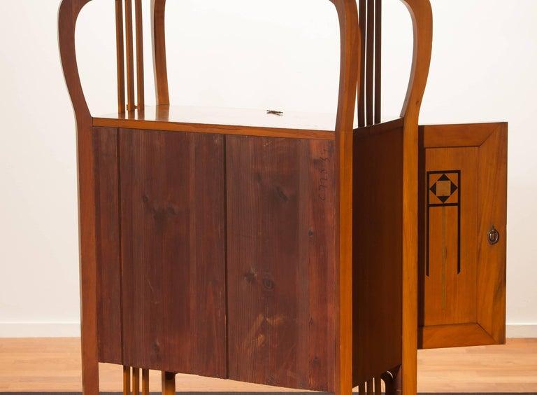 1920s, Elm Art Nouveau Cabinet For Sale 3