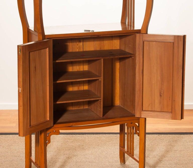 1920s, Elm Art Nouveau Cabinet For Sale 2