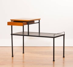 1950s , Teak and Metal Side Table - Bench - Telephone Table
