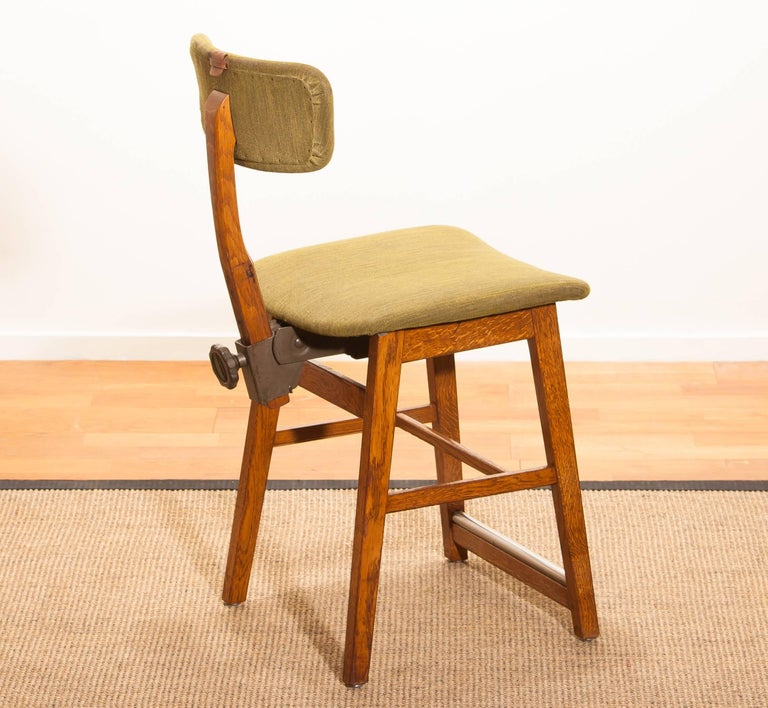 1960s, Teak and Wool Desk Chair by Âtvidabergs Sweden For Sale 3