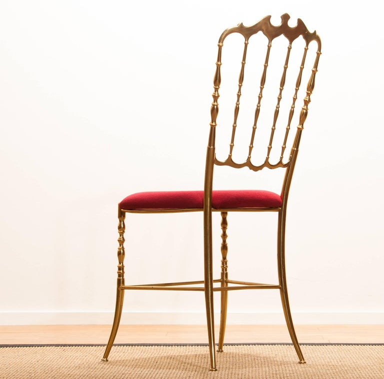 Mid-20th Century 1950s, Brass Chair by Chiavari Italy For Sale
