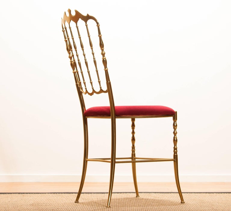 1950s, Brass Chair by Chiavari Italy For Sale 2