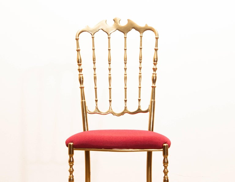 1950s, Brass Chair by Chiavari Italy For Sale 5