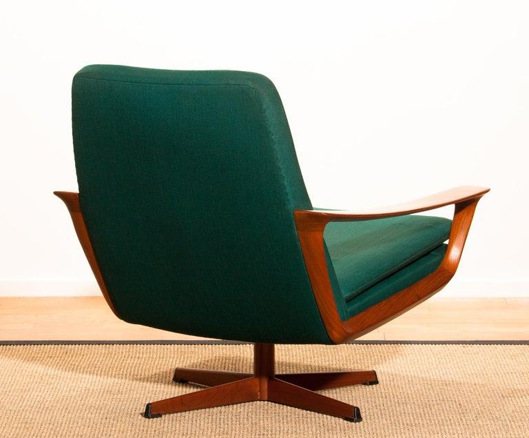 Danish 1960s, Teak Swivel Chair by Johannes Andersen for Trensum Denmark For Sale